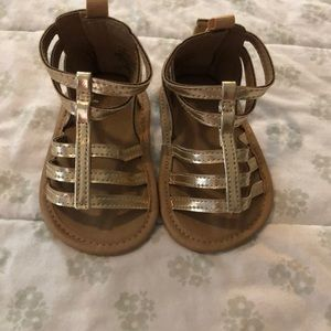 Gold old navy gladiator sandals